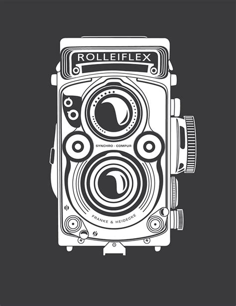 rolleiflex camera drawing