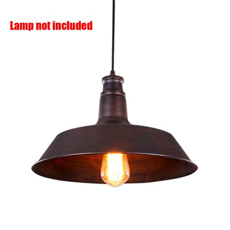 Retro Pendant Light Retro Pendant Ceiling Light Iron L Shade Vintage Chandelier Shop Bar Fixture Ebay