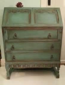 Sold annie sloan provence chalk paint carved oak bureau more painted