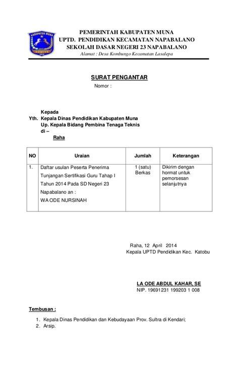 berkas usulan penerima sertifikasi
