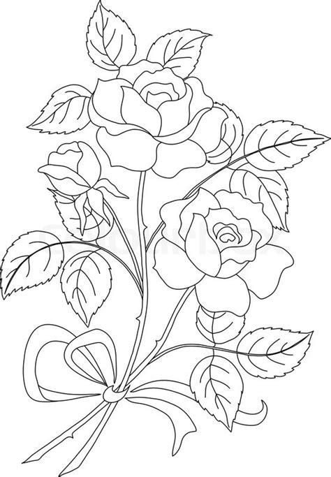 5083950 flowers rose contour jpg