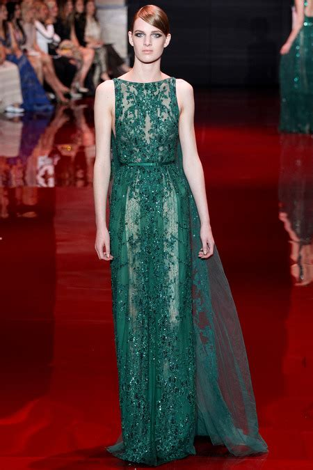 Couture In The City You by Green In Elie Saab Couture At The City A Dame To