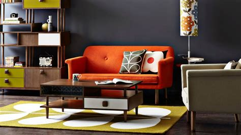 Orange Sofa Decorating Ideas by Orange Sofa Warm Color Accent In The Interior Modern