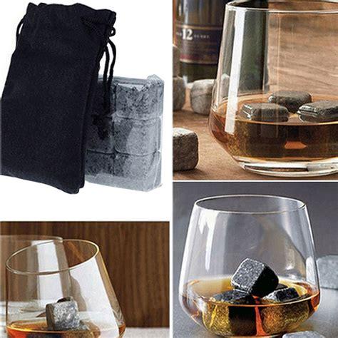Bag Import Ready White G40 6pc set whisky stones cooler drinks cubes whiskey scotch rocks granite tools ebay