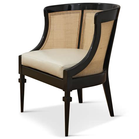 hollywood regency chair heaton hollywood regency black wood cane leather side chair kathy kuo home