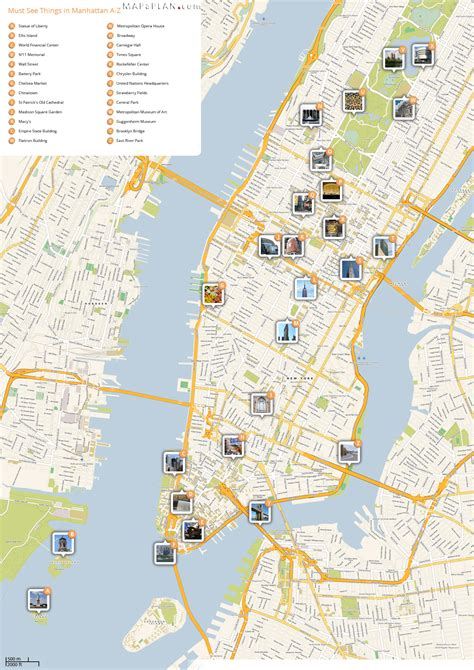 best map of nyc a to z best sights in a week on map new york map