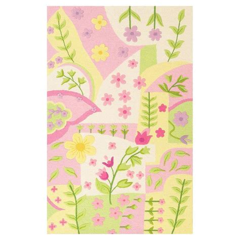 princess rug kas rugs princess rug pink multi 3 ft 3 in x 5 ft 3 in area rug kid042233x53 the home depot
