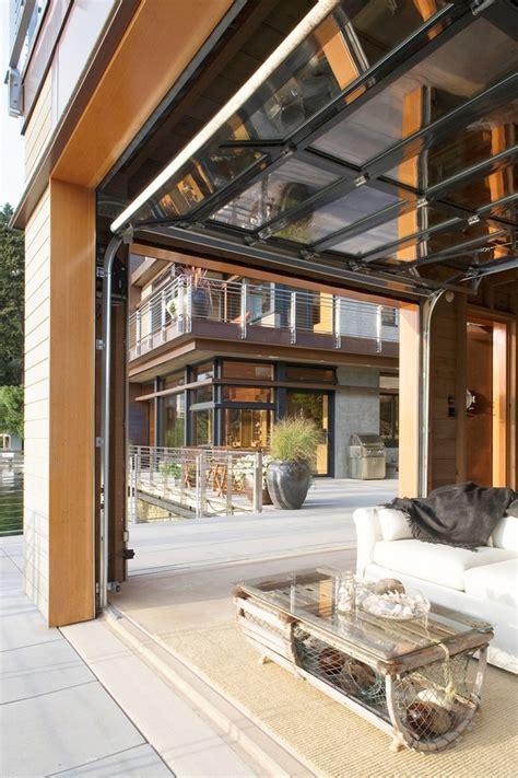 garage door patio garage door ideas patio contemporary with boathouse cable