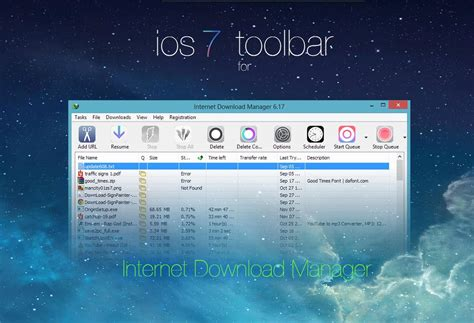 download themes idm ios 7 toolbar for internet download manager by bswas on