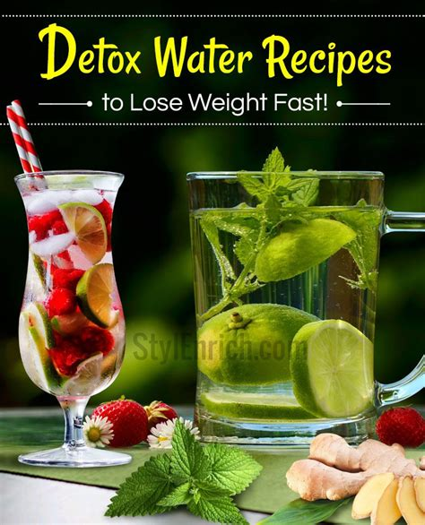 Lose Weight Fast Detox Drinks detox water recipes to help you lose weight faster