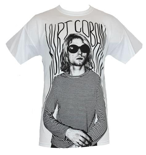 T Shirt Kurt Cobain Black kurt cobain mens t shirt black and white many lines shirt image white ebay