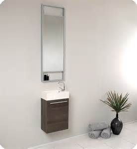 Modern Small Bathroom Vanities Fresca Pulito Small Gray Oak Modern Bathroom Vanity W Mirror Direct To You Furniture