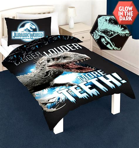 Bed Cover Set America Uk 120x200 new jurassic world park single duvet quilt cover bedding