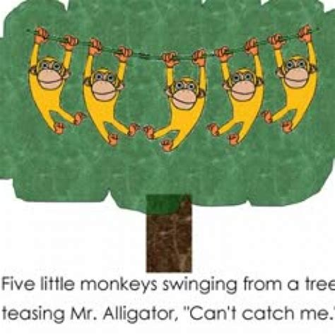 five monkeys swinging from a tree 5 little monkeys swinging from a tree