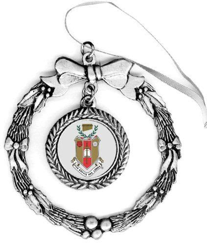 sigma alpha iota pewter holiday ornament greekgear http