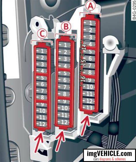 Audi A6 C7 Fuse Box Diagrams Amp Schemes Imgvehicle Com