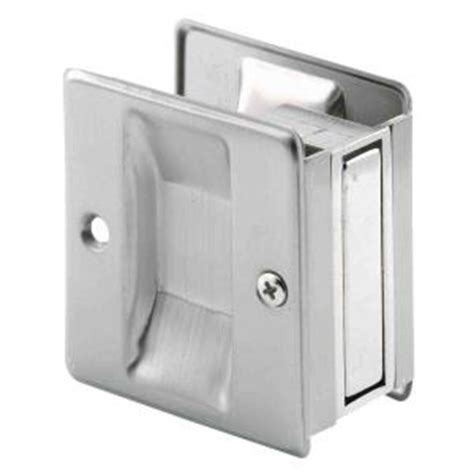 prime line satin nickel pocket door pull handle n 7238