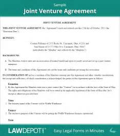 Joint Venture Agreement Template Free by Joint Venture Agreement Free Joint Venture Forms Us