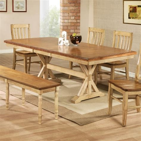 Winners Only Quails Run 84 In Trestle Dining Table With Trestle Dining Table With Leaf