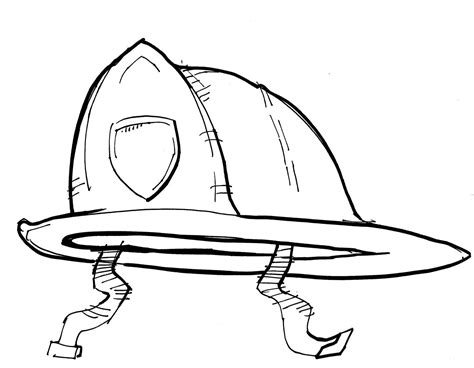 firefighter hat coloring page az coloring pages