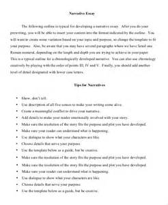 Narrative Essay Outline Template by Essay Outline Exle 8 Sles In Pdf Word