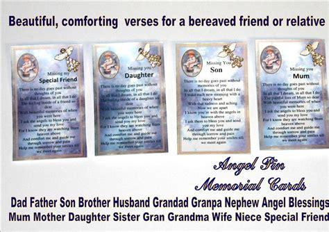 Pretty Scripture Memory Card Templates by Memorial Graveside Card Pin Relative Friend