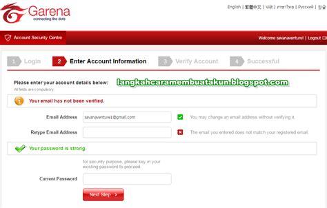 buat akun pb ga buat akun pb garena indonesia cara verifikasi email pb