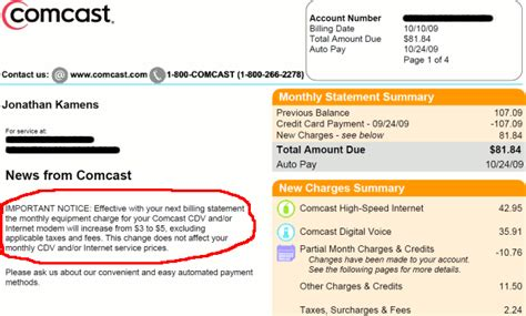 Comcast Cable Bill Sle Bing Images Comcast Bill Template
