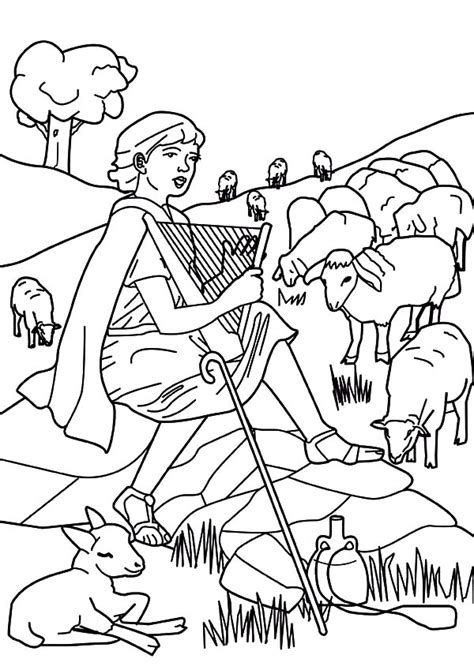 coloring page david the shepherd boy david the shepherd boy david the shepherd boy beautiful
