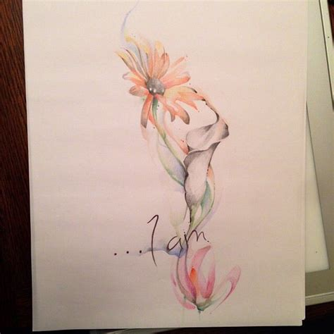 watercolor tattoo victoria watercolor flower lilly lys fleur the