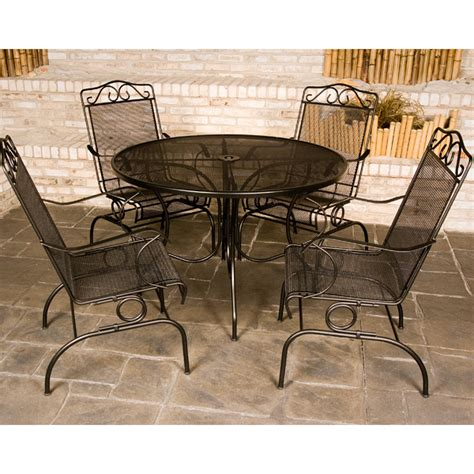 Wrought Iron Patio Tables Napa Wrought Iron Patio Set By Meadowcraft Family Leisure