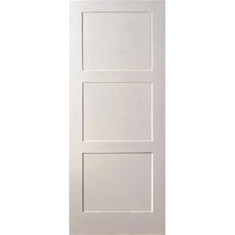 3 Panel Interior Door Flat 3 Panel Equal Primed