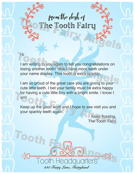 Letter For Boy Tooth Letters Tooth
