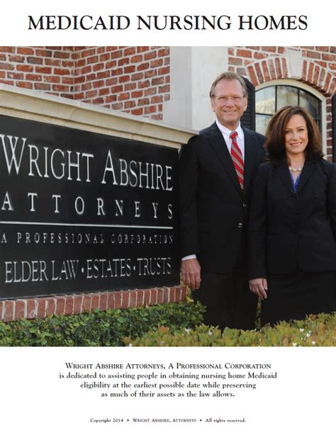 medicaid nursing home list wright abshire attorneys a
