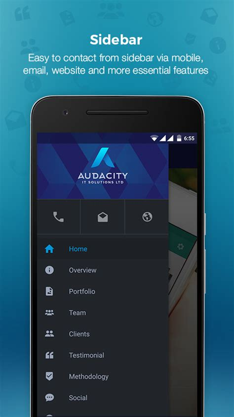 audacity android audacity android company profile admin panel analytics admob by appifyxyz