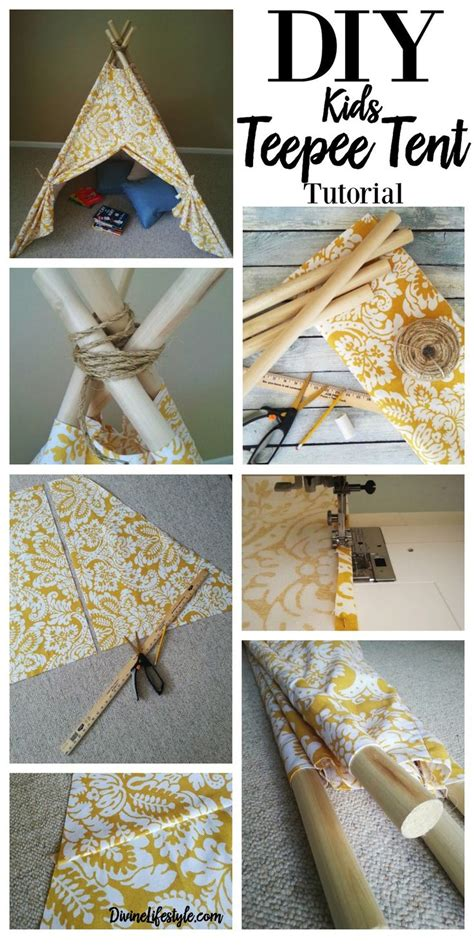 diy teepee tent tutorial teepee tent fabrics and sewing crafts