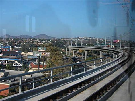 San Diego Light Rail by Rising High Above