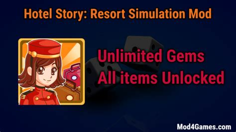 mod game hotel story hotel story resort simulation unlimited gems game mod apk