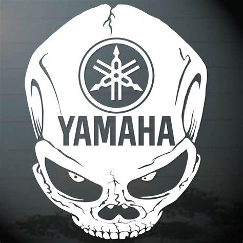 Stiker Cutting Racing Motif Sport 6 0 quot x1pc yamaha skull sticker cut out decal vinyl racing sport bike ebay