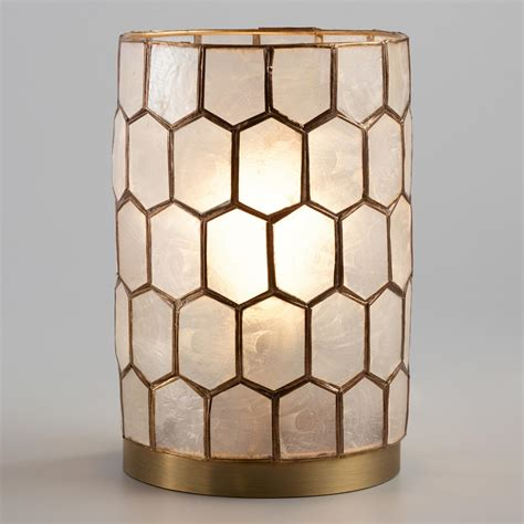Capiz Vase Gold Capiz Honeycomb Table Lamp World Market