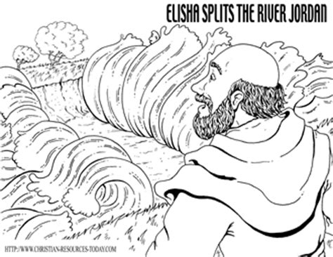 free bible coloring pages elisha preschool activity joshua crossing the just b cause