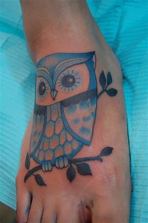 blue owl tattoo design 60 owl tattoos ideas for foot