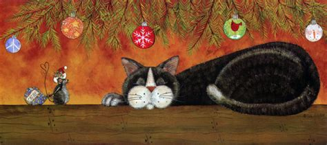 unexpected gifts  kindness cat christmas card  lpg