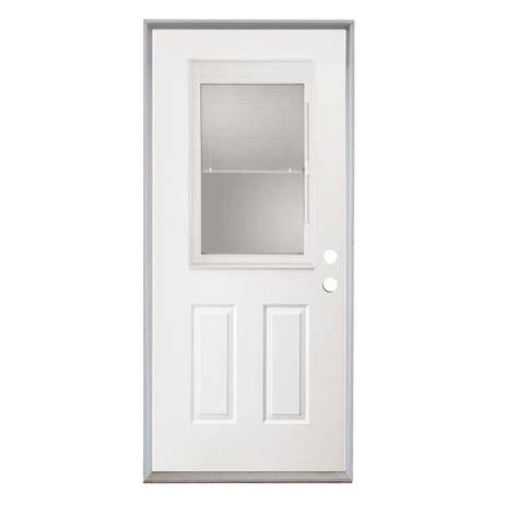 Exterior Door With Blinds Between Glass Shop Reliabilt 32 Quot Steel Entry Door Unit With Blinds