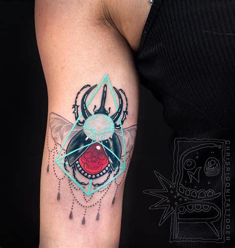 tattoo maker perth beetle geometric tattoo chris rigoni perth wa skinink