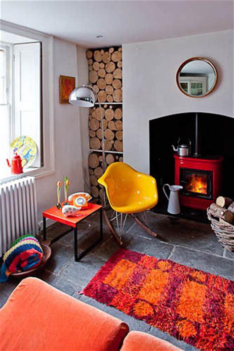 retro living room interior design inspiration photo