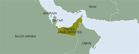 uae map middle east jccp s activities by countries united arab emirates