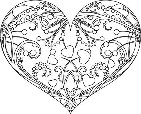 18 dessins coloriage mandala coeur 224 imprimer