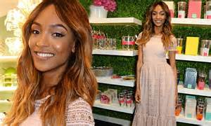 Kate Spade Kellyanne Moussfrost jourdan dunn covers up supermodel figure at the launch of new kate spade store daily mail