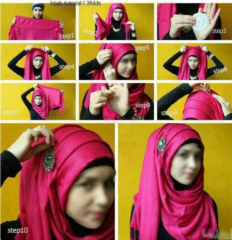 tutorial jilbab rounded shape 44 best hijab scarf how to images on pinterest hijab